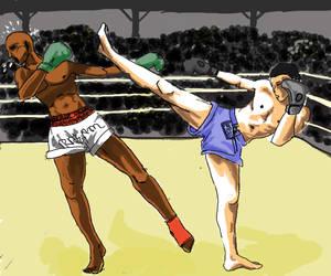 Muay Thai by FacteurK