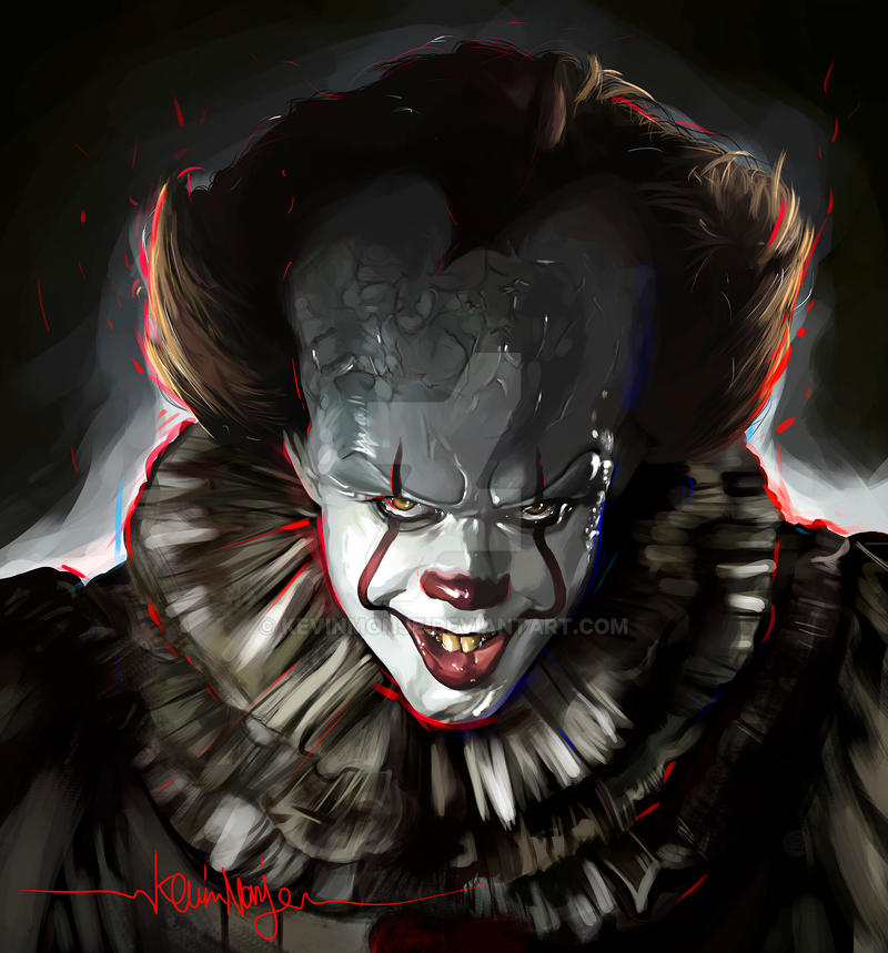 pennywise it by kevinmonje on deviantart