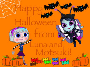 Happy Halloween from Luna and Motsuki