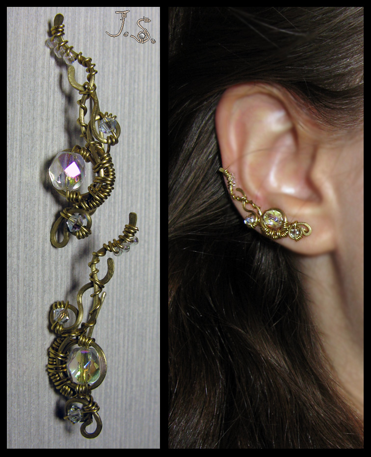 Ear vines Iridia by JSjewelry