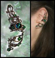 Ear cuff Lorien forest by JuliaKotreJewelry