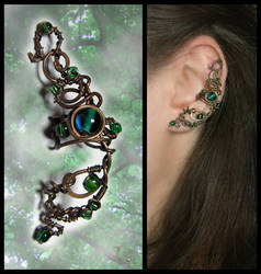 Ear cuff Lorien forest by JuliaKotreJewelry