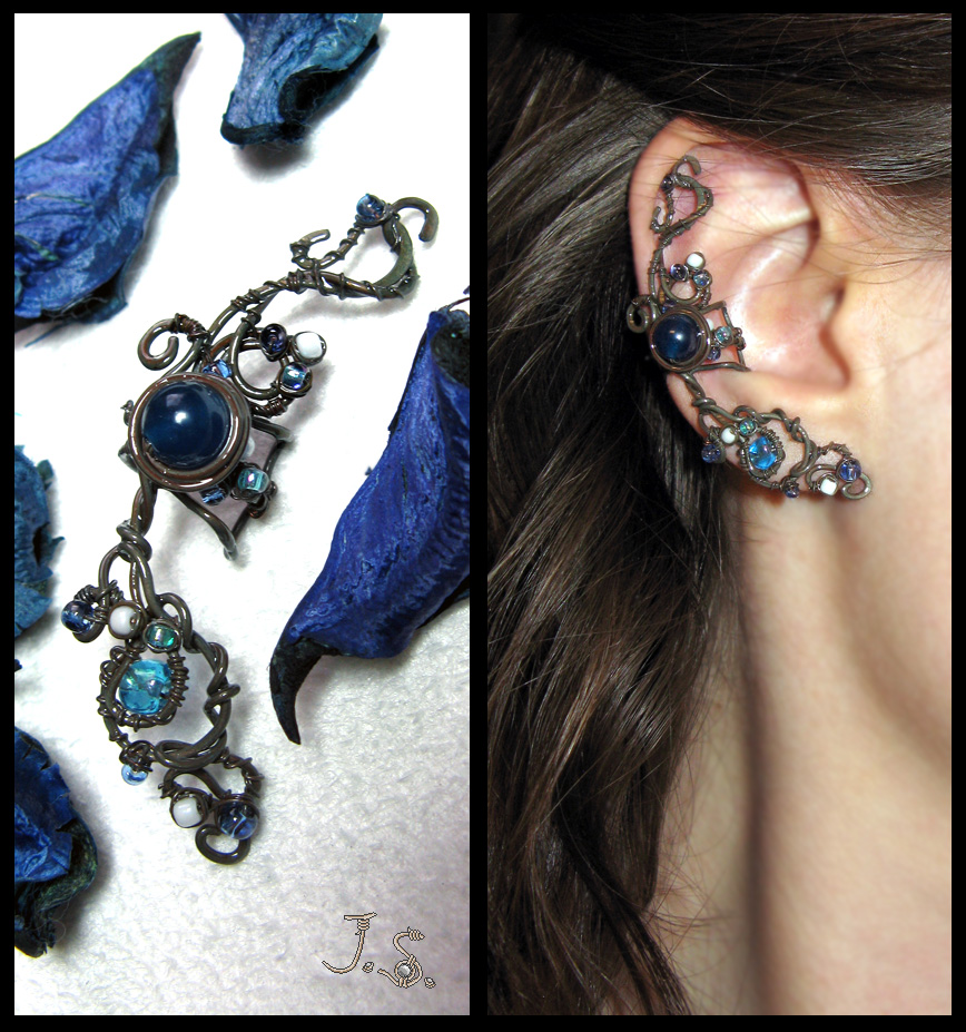Mystery of the night forest ear cuff by JSjewelry