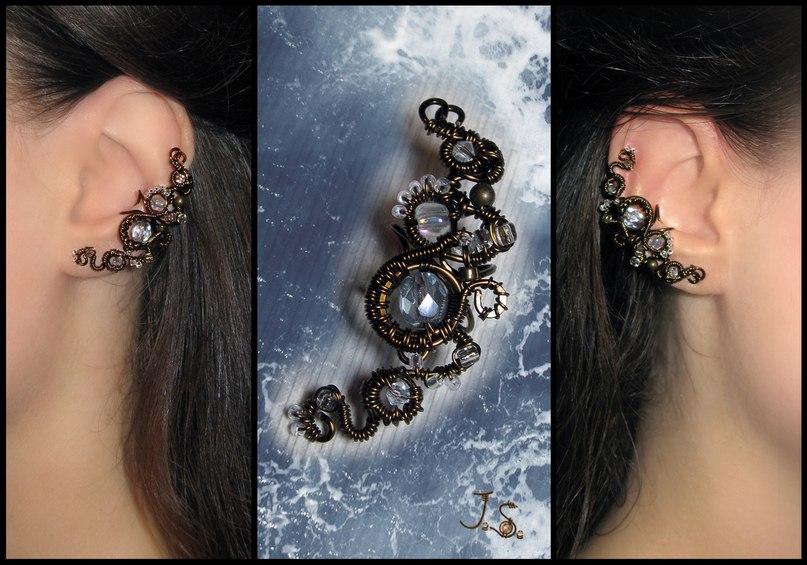 Ear cuff Sea foam by JSjewelry