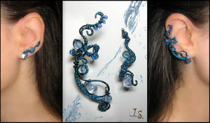 Ear cuff and earvine Thawing ice