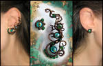 Mistress of copper mountain ear cuff and stud