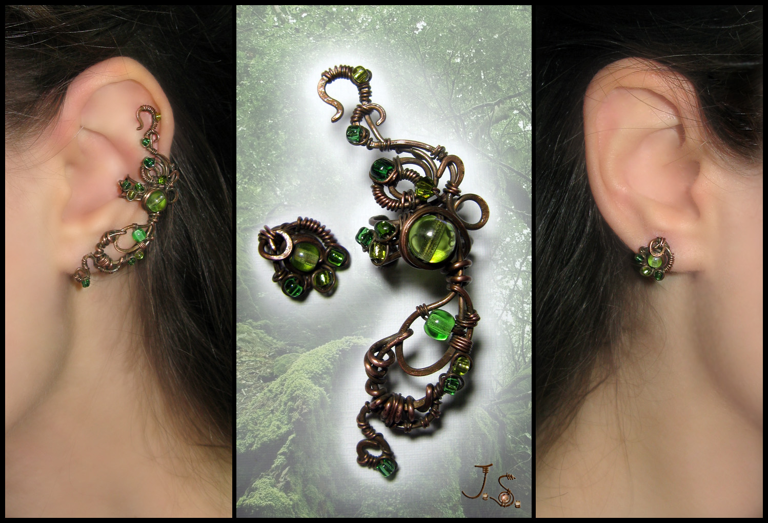 Ear cuff and stud Dryad by JSjewelry
