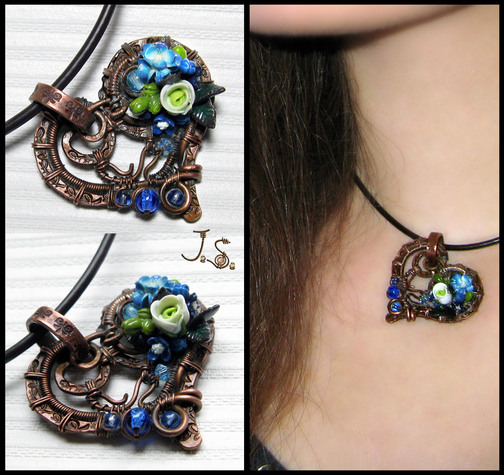 Heart pendant by JSjewelry