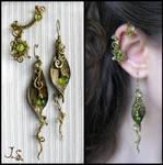 Ear cuff and earrings Seasons. Spring.