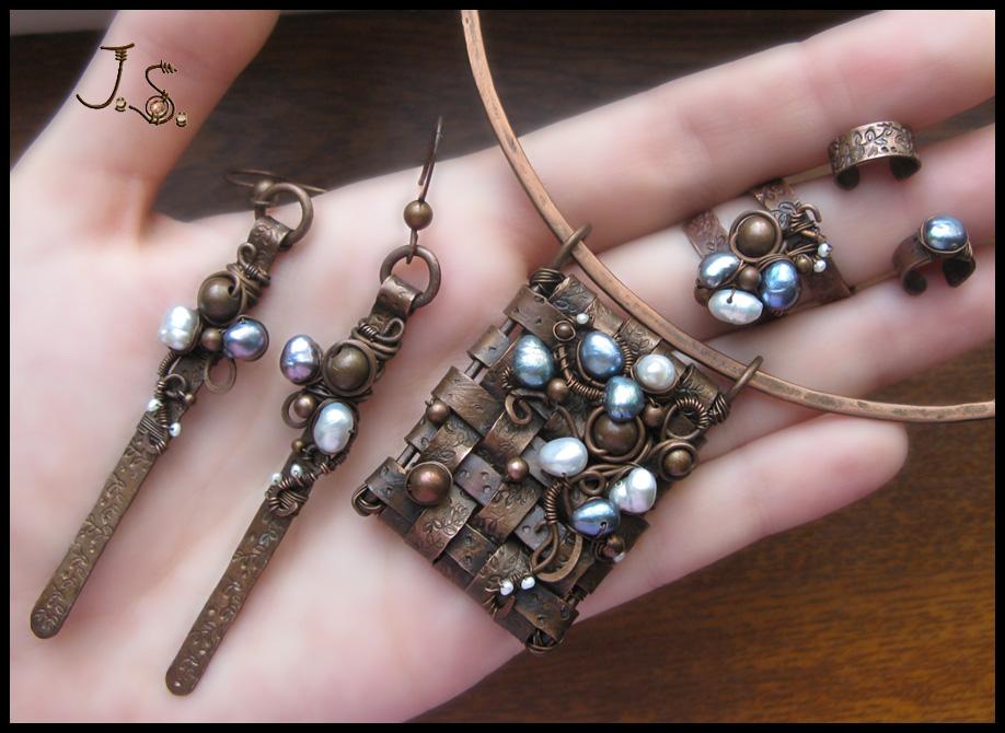 Snejniy plen set by JSjewelry
