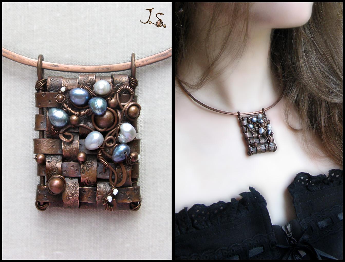 Snejniy plen pendant by JSjewelry