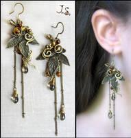 Earrings from set Seasons. Autumn. by JuliaKotreJewelry