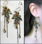 Earrings from set Seasons. Autumn.