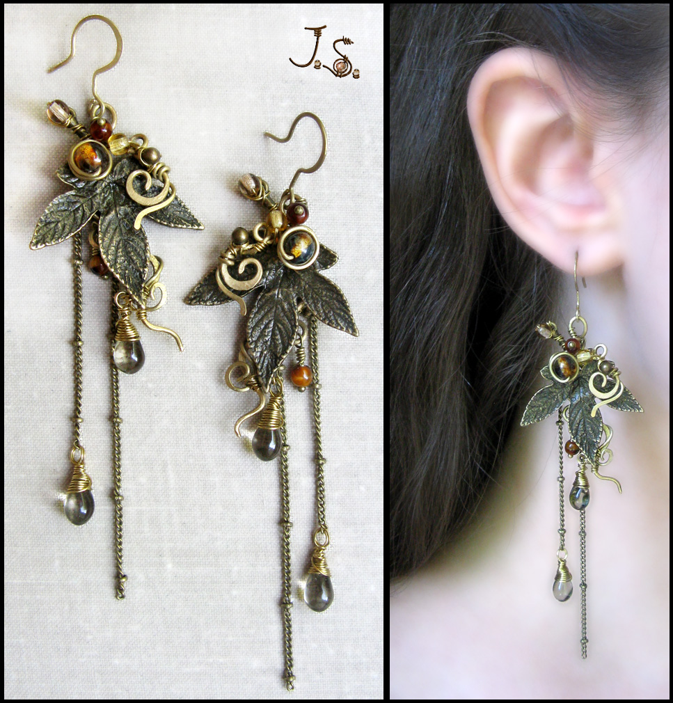Earrings from set Seasons. Autumn. by JSjewelry