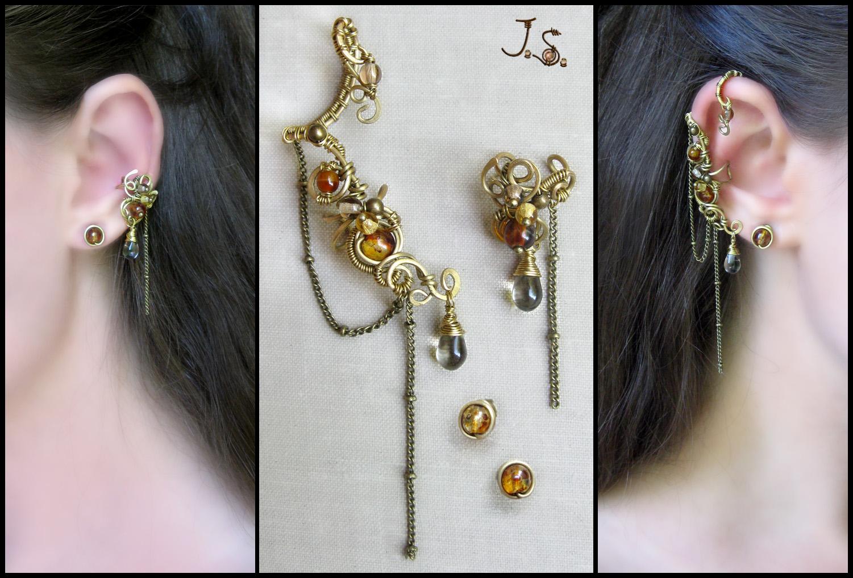 Ear cuffs from set Seasons. Autumn. by JSjewelry
