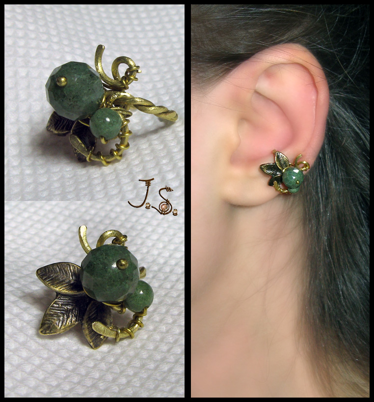 Forrest berry tiny ear cuff by JSjewelry