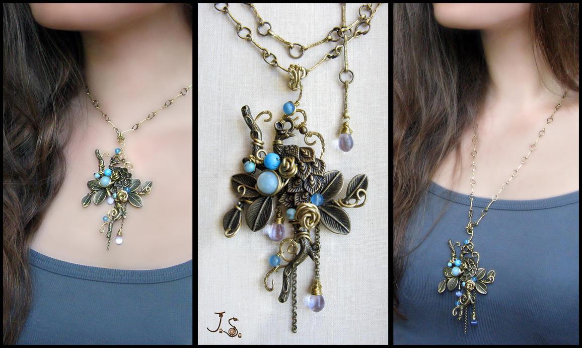 Garden of emir of Bukhara pendant by JSjewelry