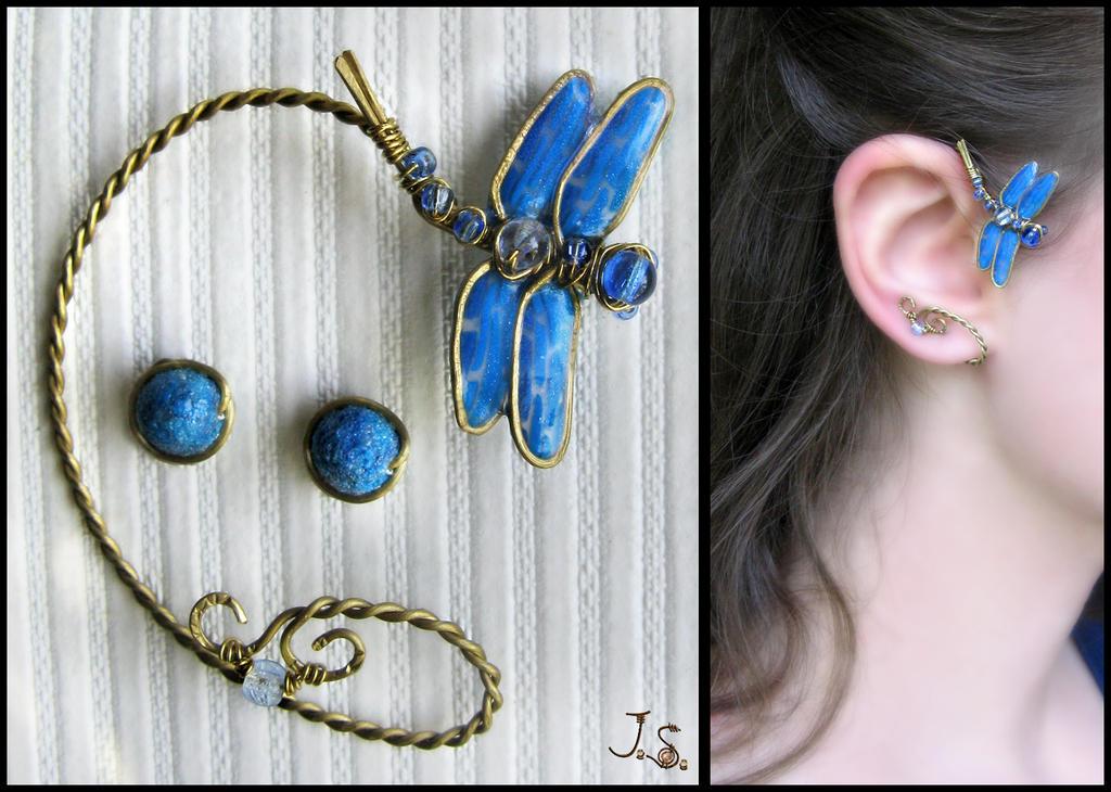 Dragonfly ear wrap by JSjewelry