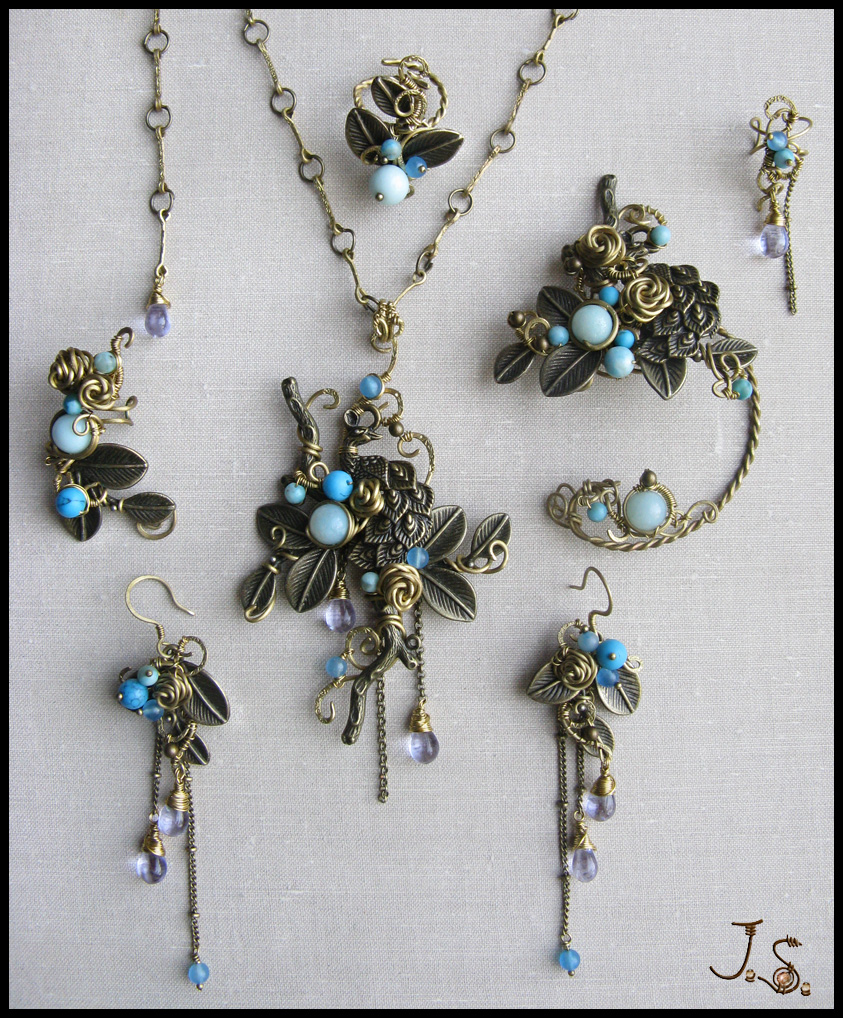 Complete set Garden of emir of Bukhara by JSjewelry