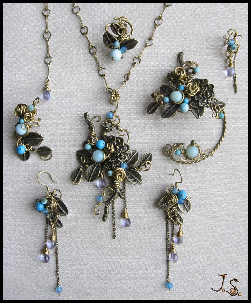 Complete set Garden of emir of Bukhara by JSjewelry