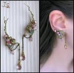 Pink dreams ear pins