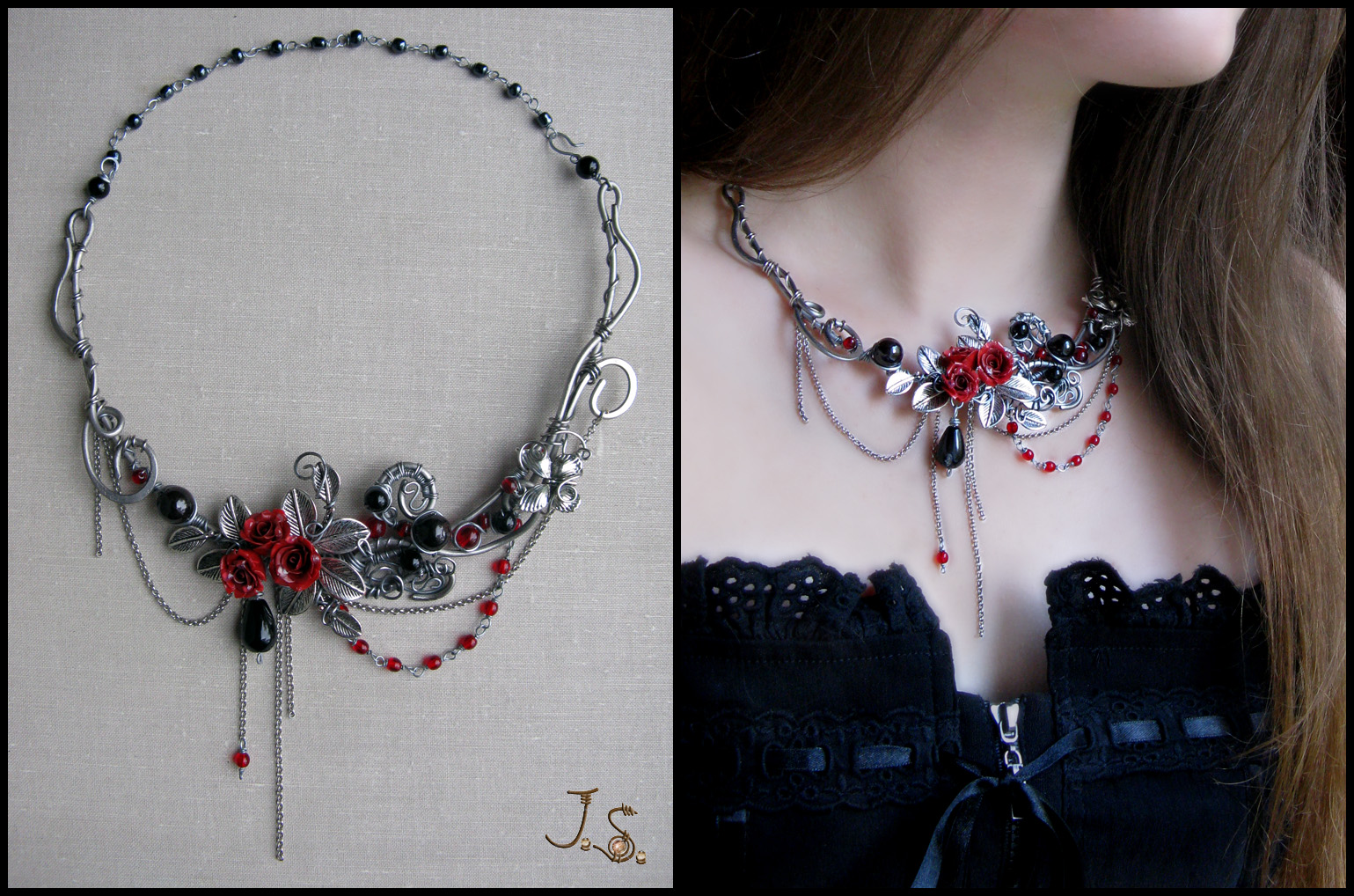 Dark passion necklace by JSjewelry