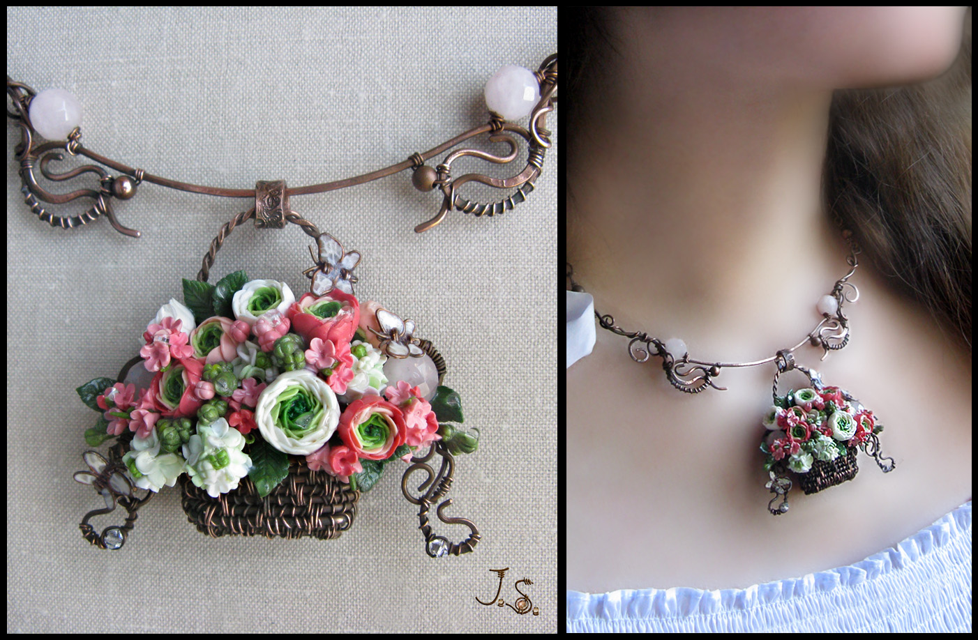 Summer garden necklace by JSjewelry