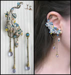 Ear cuff and stud Town of forgotten dreams