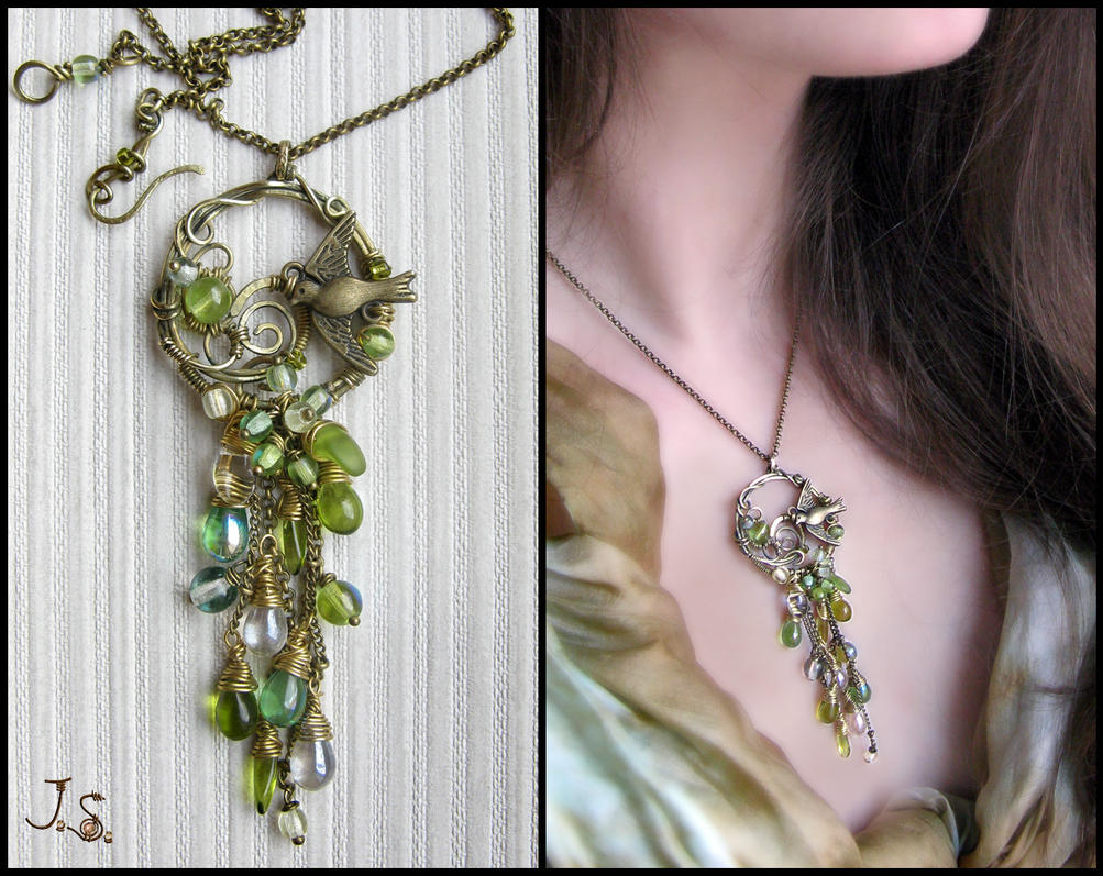 Cascade pendant May showers by JSjewelry