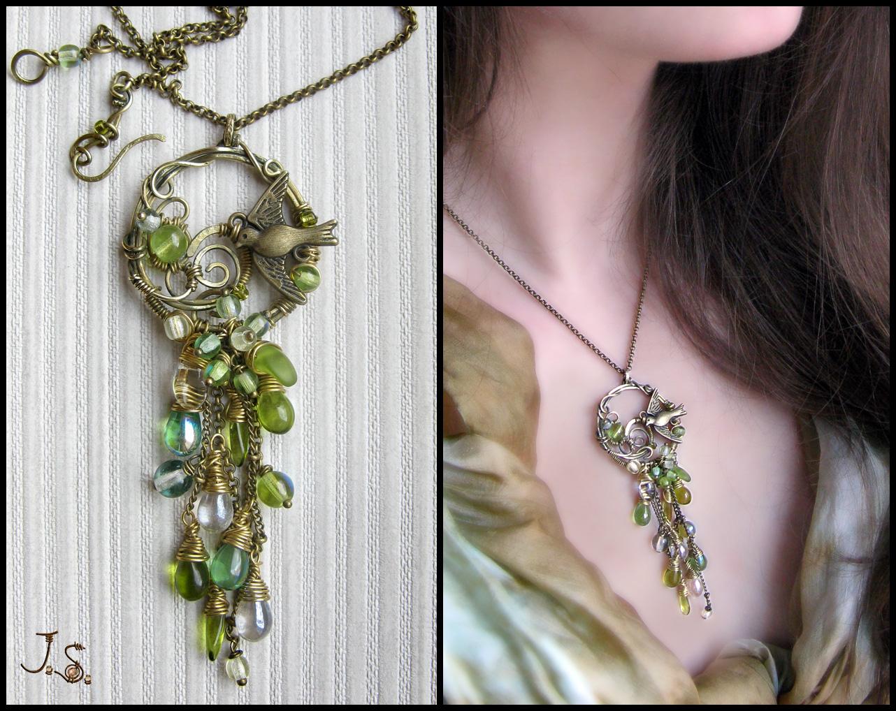 Cascade pendant May showers by JSjewelry