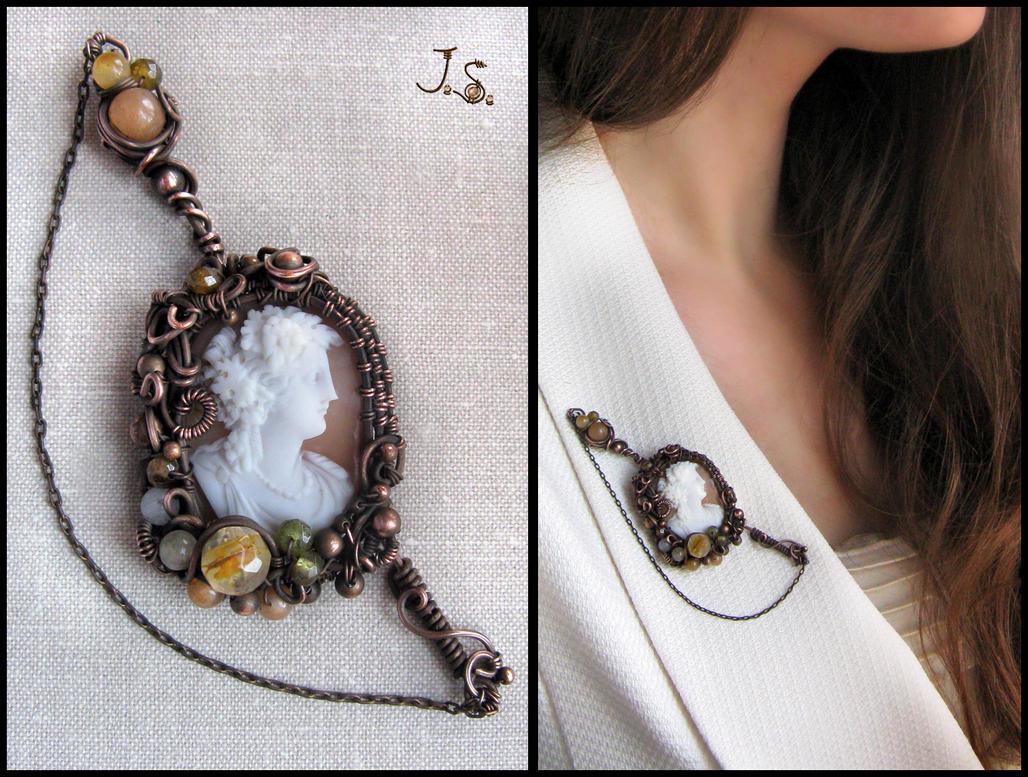 Falerna cameo brooch by JSjewelry