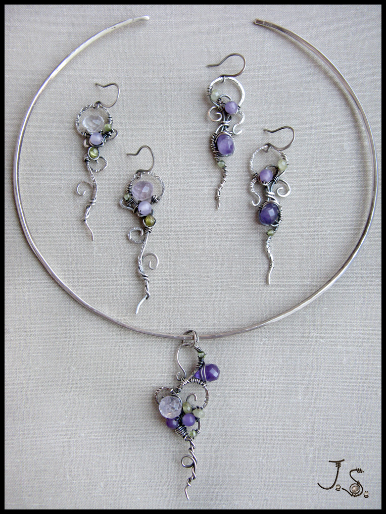 Jewelry collection First spring flowers by JSjewelry