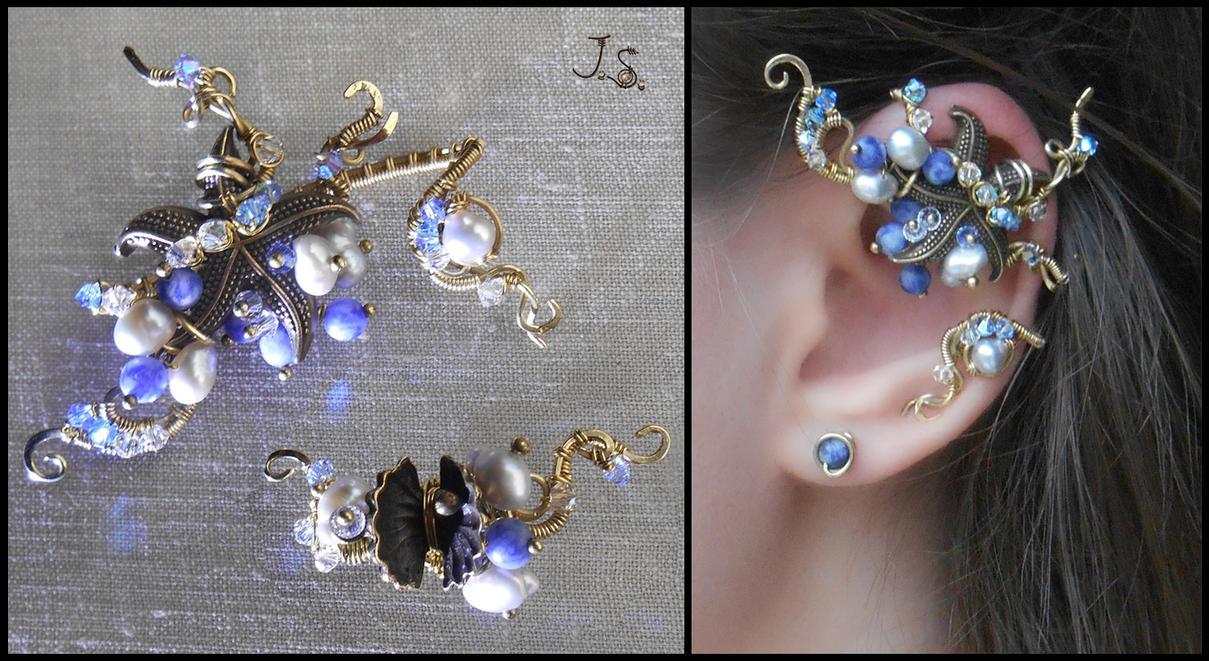 Set of ear cuffs Treasures of sea by JSjewelry