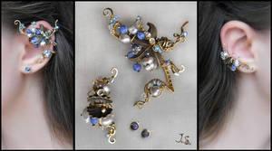 Set of ear cuffs Treasures of sea by JuliaKotreJewelry