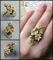 Ring Summer pond by JuliaKotreJewelry