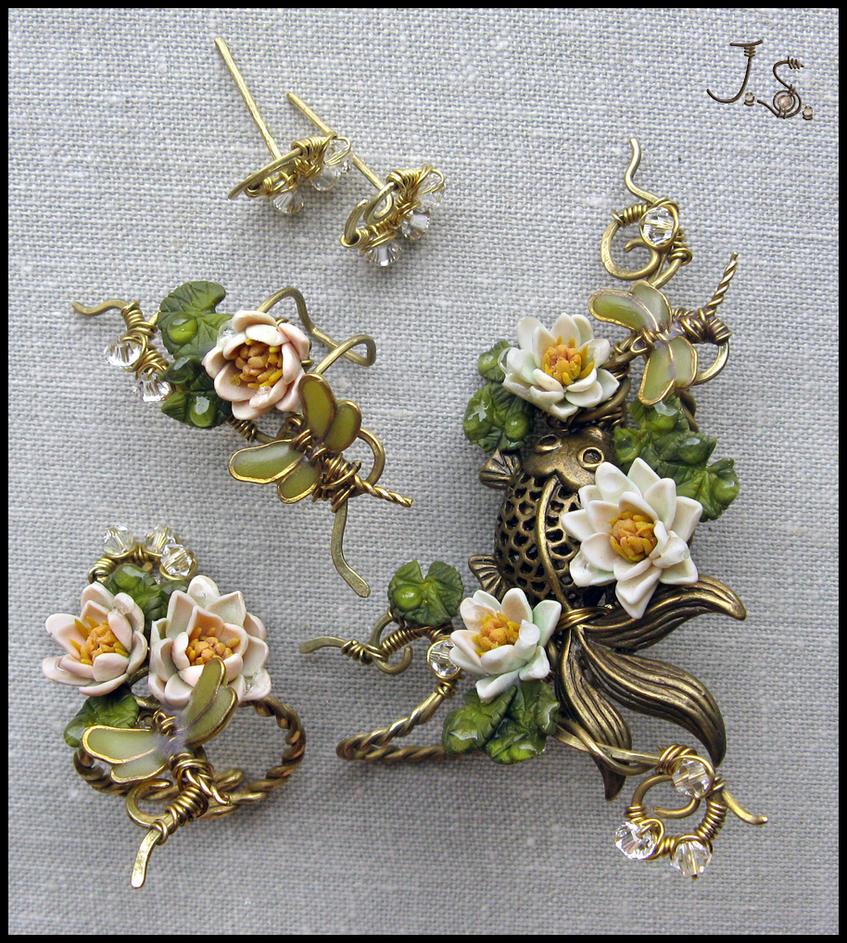 Jewelry set Summer pond by JSjewelry