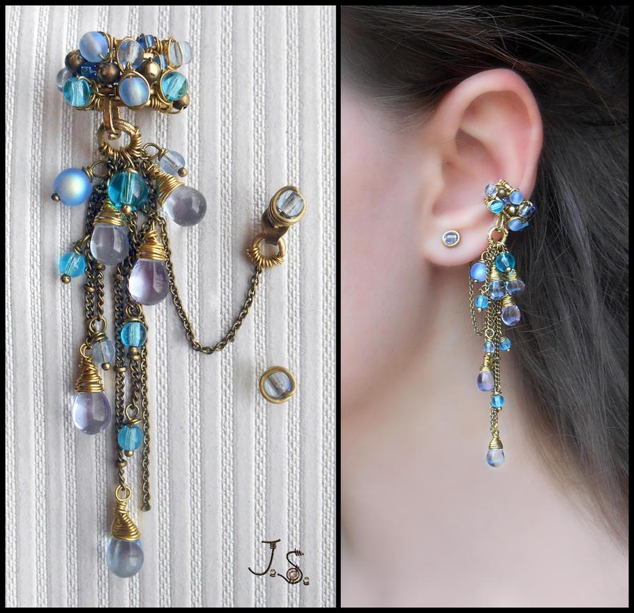 Earcuff Waterfall by JSjewelry