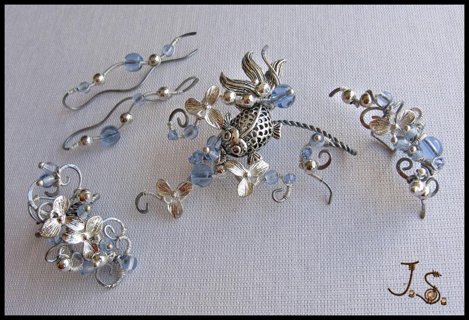 Blooming stream II set by JSjewelry