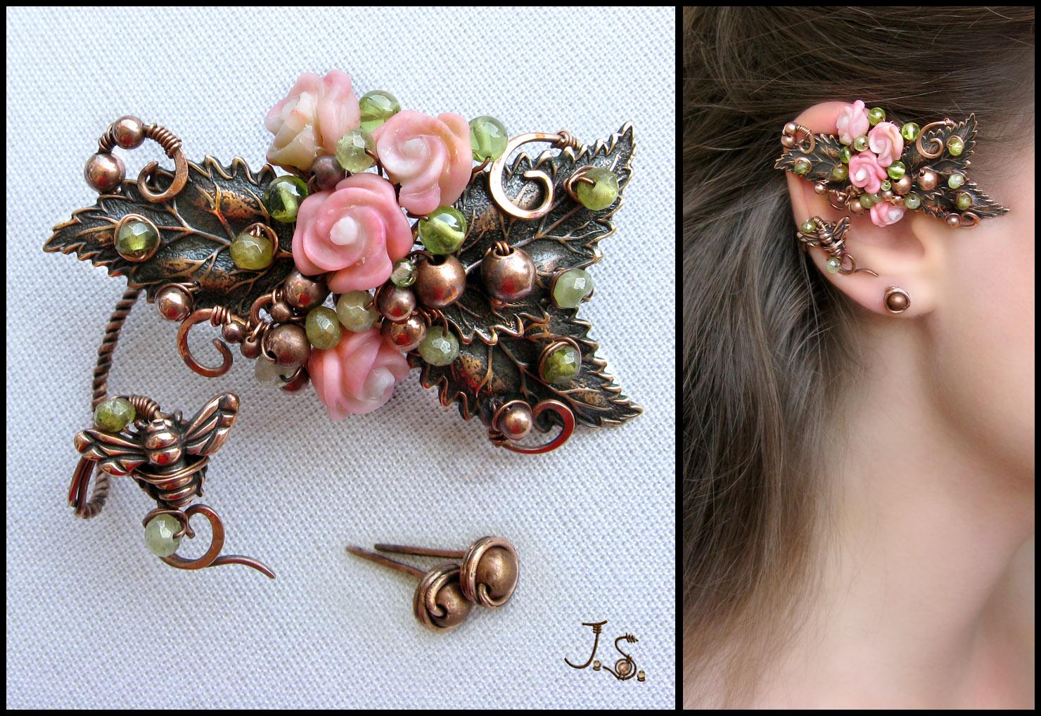 Flight of the bumblebee ear wrap by JSjewelry