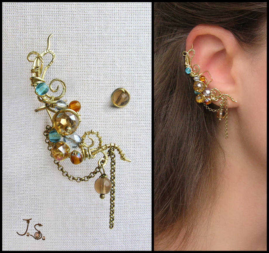 Treasures of the fall ear cuff by JuliaKotreJewelry on ...