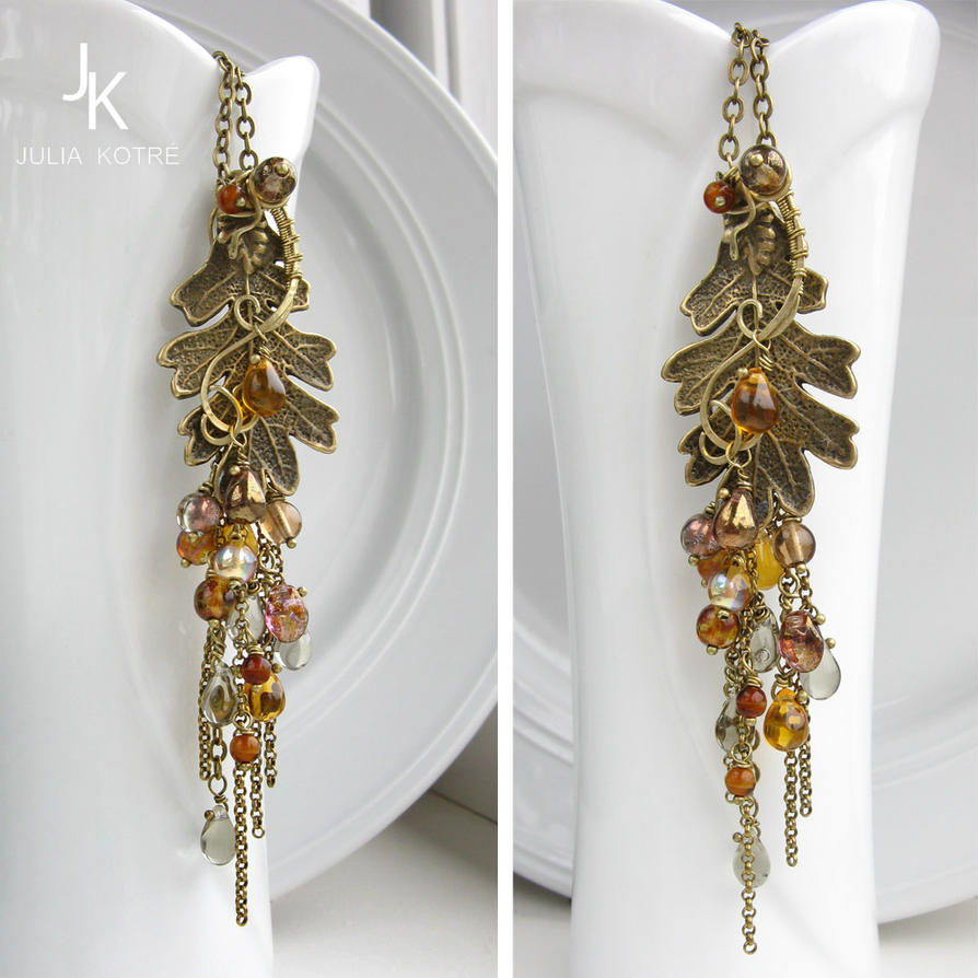 Cascade autumn pendant Whisper of the leaves by JSjewelry