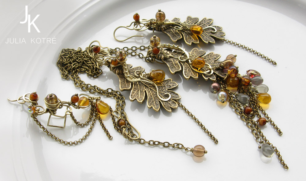 Jewelry set Whisper of the leaves by JSjewelry
