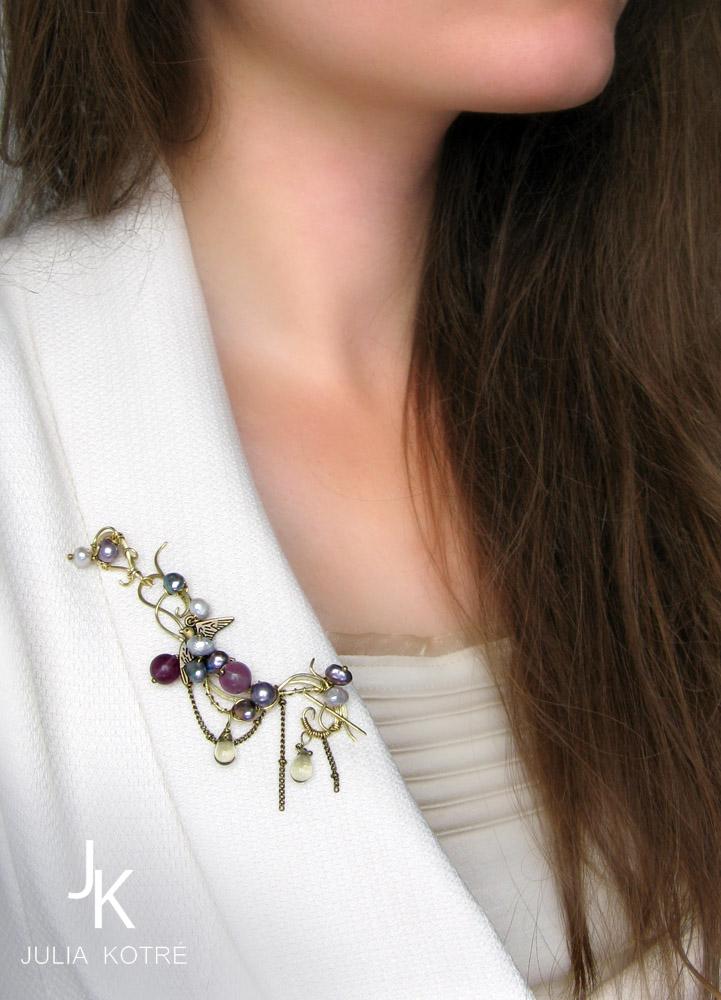 Brooch In anticipation of winter by JSjewelry