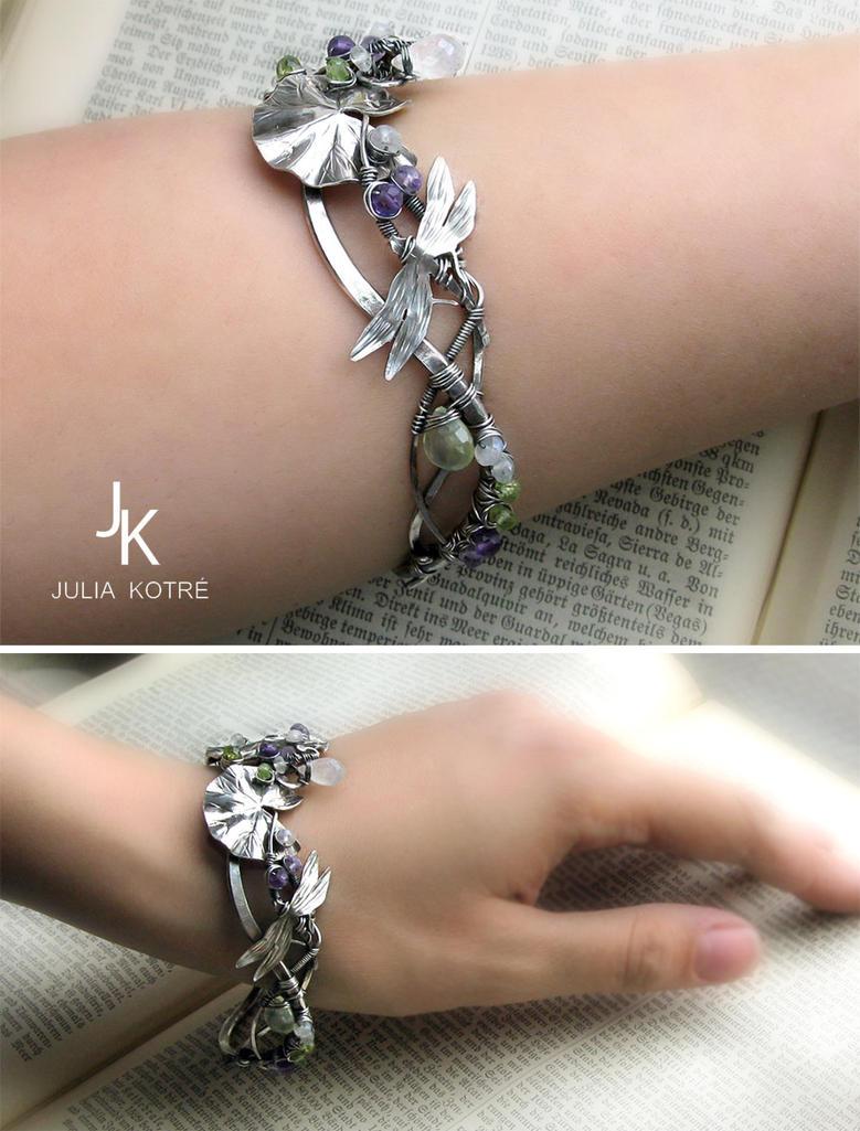 Silver bracelet Quiet pond II by JSjewelry