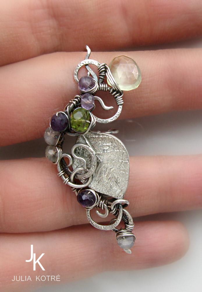 Silver branch ear cuff by JSjewelry