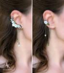 Silver ear cuffs Apple rain