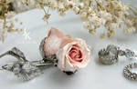 Roses silver earrings and ear cuffs