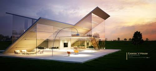 Exterior: V-House