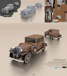 1932 Buick : Low Poly Modelling