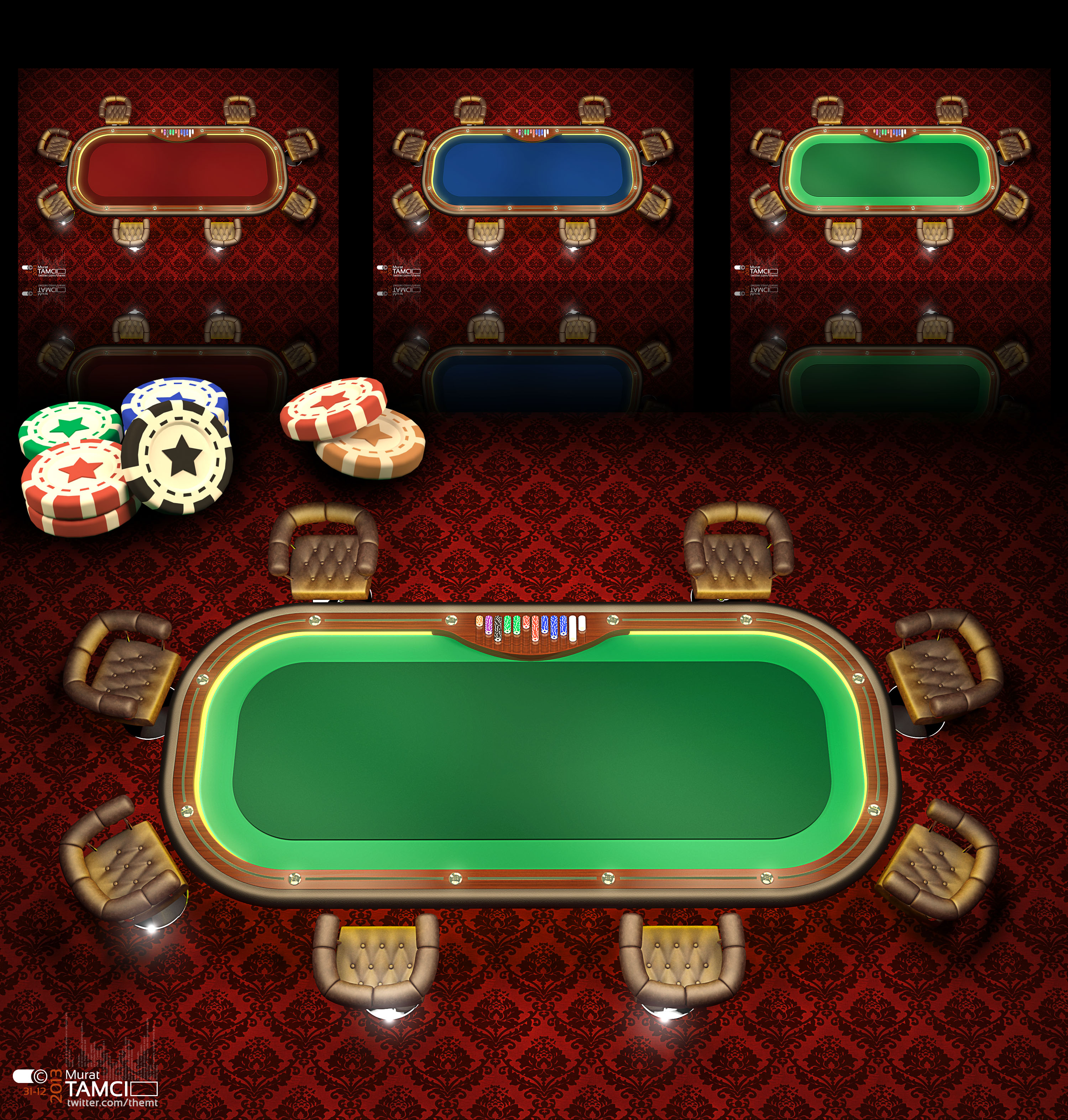 Poker Table v2 by themt